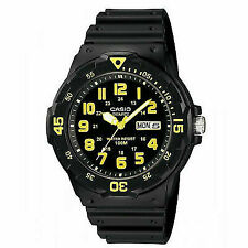 Casio Men's Watch Mrw-200h-9b Wr100mt Quartz Analog Black Date Vintage Time
