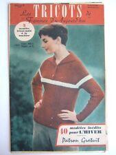 REVUE LES TRICOTS DE FEMMES D'AUJOURD'HUI N° 88 - 1957. PULLOVER VESTE LISEUSE