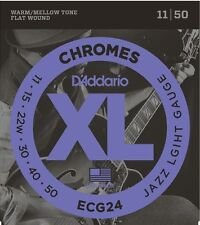 D'Addario ECG24 Flat Wound Chromes, Custom Light Electric Strings 11-50