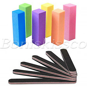 12pcs Nail Art Tips Sandpaper Block Buffer Buffing Manicure File Polish Sponge