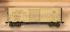 N Scale - ATLAS 50 001 760 ATLANTA & WEST POINT 40' PS-1 Box Car # 38011