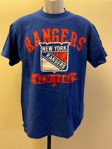 New New York Rangers Mens Size M Medium Blue Shirt