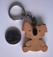 Avon Cosmetics Wooden Koala Bear Key Chain Key Ring Purse Charm #20386