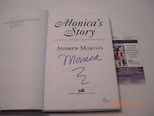 MONICA LEWINSKY MONICAS STORY BILL CLINTON JSA/COA SIGNED BOOK
