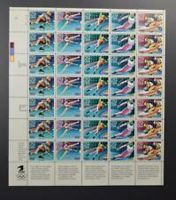 US SCOTT 2611 - 15 PANE OF 35 WINTER OLYMPIC STAMPS 29 CENT FACE MNH