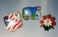 2002 SALT LAKE OLYMPIC PINS incld. Figure Skating & N.Y. TORCH RELAY LOT OF 3