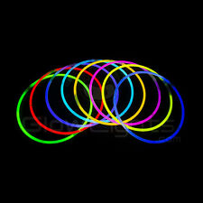 """(100) 22"""" GLOW LIGHT STICKS NECKLACES - 10 COLORS - GLO LITE PARTY - PREMIUM"""