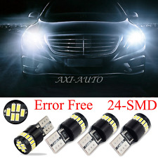 4x 6000K White T10 LED Lights Error Free for Mercedes W204 City Eyebrow Eyelid
