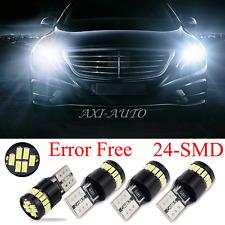 4x 6000K White T10 LED Lights Error Free for Mercedes W204 City Eyebrow Eyelid