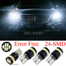 4x 6000K 168 194 Bulb LED Light Error Free for Mercedes W204 City Eyebrow Eyelid