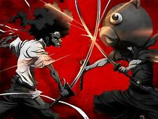 ART PRINT POSTER MANGA ANIME AFRO SAMURAI SWORD BEAR FIGHT ACTION NOFL0024