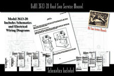 DoAll 3613-20 Band Saw Owners Service Manual Parts Lists Schematics etc.