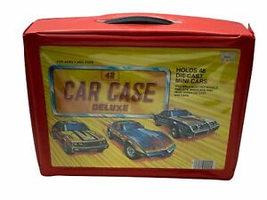Vintage Red Tara Toys 48 Car Case Deluxe 1:64 scale Diecast Carrying Case READ!