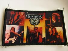ACCEPT  VINTAGE SEW ON PHOTO STYLE PATCH FROM 1980's NEW OLD STOCK HEAVY METAL