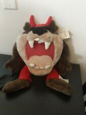 Taz Vintage Plush With Devil Costume And Trick Or Treat Bag With Tags 1999