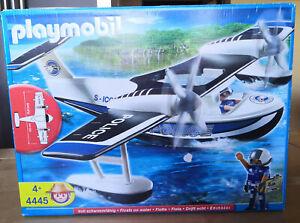Playmobil 4445 Polizei-Wasserflugzeug - Voll schwimmfähig!