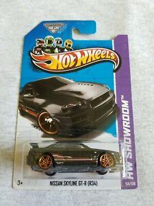 2013 Hot Wheels NISSAN SKYLINE GT-R (R34) Black 158/250 EXCELLENT CARD
