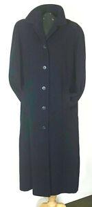 JAEGER coat. Navy blue 85% wool, 15% camelhair. Made in Great Britain. UK 14