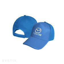 Mazda CARBON Royal Blue Baseball Cap Embroidered Auto Logo Hat Gift Mens Womens