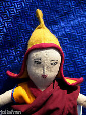 RARE TIBETAN NUNS PROJECT TIBETAN BUDDHIST MONK/LAMA DOLL HAND-MADE BY THE NUNS