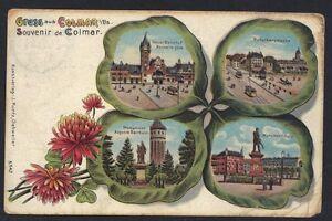 POST CARD ART GERMANY 1912 GRUSS AUS COLMAR COLMAR CANCEL