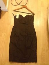 Michael Kors Womens Coffee Strapless Dress Size*10 Nwt