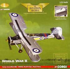 Corgi Aviación aa36302 Fairey Swordfish Mk I,HMS arca real ,1939 MUY RARO NUEVO
