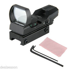 Táctico Holográfica Reflex Antirreflejo a prueba de choques Visor De Punto Rojo Verde Laser Alcance