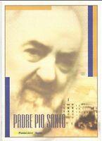 ITALIA - FOLDER 2002 - PADRE PIO  - VALORE FACCIALE € 5,00  sconto 30%