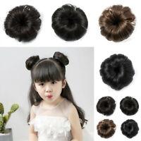 Baby Girl's Bun Hair Piece Scrunchie Hair Accessory Clip Hairpins Barrette AU
