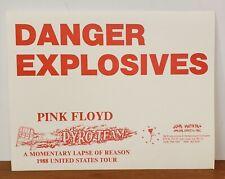 "PINK FLOYD ""DANGER EXPLOSIVES"" BACKSTAGE CREW PYRO TEAM 1988 US TOUR SIGN"
