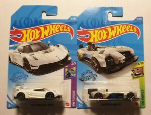 Hot Wheels Bundle - 2020 Koenigsegg Jesko and  Electro Silhouette both New