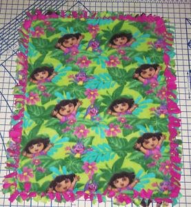"""Licensed Print Fleece Baby Blanket Pet Lap Hand Tied 30"""" x 24"""" New"""