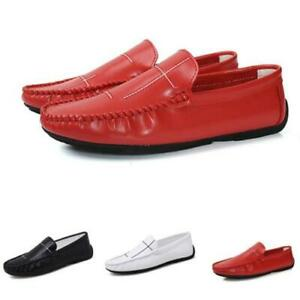 Mens Faux Leather Driving Moccasins Shoes Soft Comfy Pumps Slip on Loafers New D