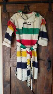 Hudson Bay Wool 4pt Blanket Capote Coat - Black Powder, Rendezvous, Mountain Man