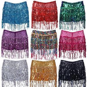 Sequin Festival Hotpants Shorts: Women's Rave Dance Summer Party Fancy Dress