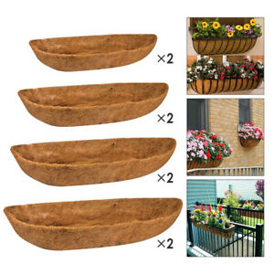 2Pcs Trough Shaped Coco Liners Planter Inserts Replacement Liner Flower Pot
