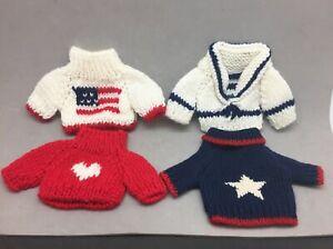 "Lexin Nice Stuff Build A Bear Sweater Lot 4 Sailor Flag Patriotic Heart Star 4"""