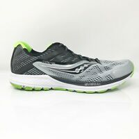 Saucony Mens Ride 10 S20373-1 Silver Green Running Shoes Lace Up Low Top Size 11