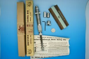 HERTER'S UNIVERSAL NECK SIZING DIE TOOL & INSTRUCTIONS VINTAGE NEW OLD STOCK