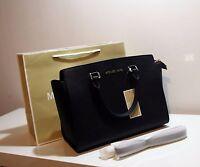 Michael Kors Selma Large Black Leather Saffiano