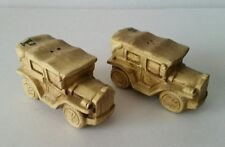 Vintage Old Fashioned Car Automobile Salt & Pepper Shakers Japan