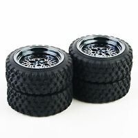 4X 1:10 RC Tyre Tires Wheel Rally 12mm Hex For HSP HPI Off Road Racing Car