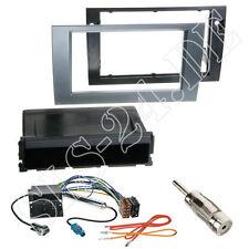 Seat exeo 2-din autoradio radio diafragma + especializada antracita ISO radio cable del adaptador set