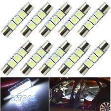 10X White T6 29mm 3-SMD 5050 LED Bulb For Car Sun Visor Vanity Fuse Mirror Light