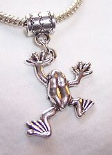 Frog Toad Animal Amphibian Creek Life Dangle Charm for European Bead Bracelets
