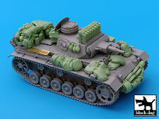 Black Dog 1/35 Panzer III Ausf.N Tank Accessories Set WWII (for Dragon) T35030