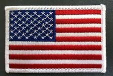 """flag patch american flag patch us flag patch white edge flag patch  3 1/2"""" wide"""
