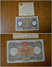BANCONOTA LIRE 100 ROMA GUERRIERA FASCIO PRIMA BANCONOTA IMPERIALE 1936 BB RARA