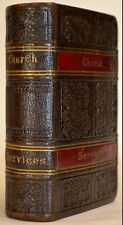 ANTIQUE NEW TESTAMENT COMMON PRAYER PSALMS LESSONS FINE LEATHER BINDING 2 CLASPS